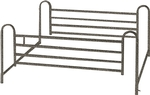 Drive Full Length Hospital Bed Side Rails # 15001ABV (Pair)