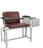 Winco 2574XL Padded Blood Drawing Chair w/Cabinet