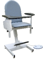 Winco 2588 Power Designer Blood Drawing Chair - Padded Vinyl