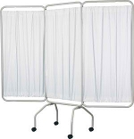 Winco 3130 3 Panel Privacy Screen with Standard White Vinyl