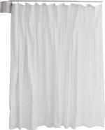 Winco 3400 Wall Mounted Telescopic Curtain w/Std White Vinyl