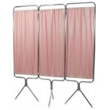 Winco 3639 3 Panel Aluminum Folding Screen with SureCheck