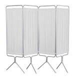 Winco 3649 4-Panel Aluminum Folding Screen w/Premium Sure Check