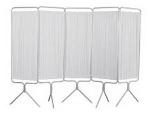 Winco 3650 5-Panel Aluminum Folding Screen w/Std White Vinyl