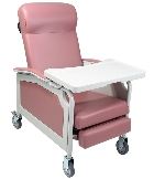 Winco 5251 Convalescent 3-Position Reclining Geriatric Chair with Tray