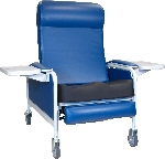 Winco 529S XL Convalescent Recliner with Saddle Seat