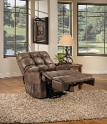 Full Leather Med Lift Reliance 5555 Full Sleeper Reclining Lift Chair