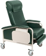 Winco 6531 CareCliner Geriatric Chair with Steel Castors