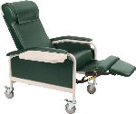 Winco 6530 CareCliner Geriatric Chair with Nylon Castors