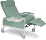 Winco 6541 XL CareCliner Geriatric Chair with Steel Casters
