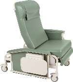 Winco 6570 XL CareCliner Drop Arm Geriatric Chair with Nylon Casters