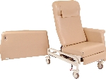 Winco 6940 Swing Away CareCliner with Dual Swing-Arms, Nylon Casters