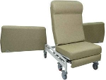 Winco 6950 XL Elite CareCliner with Dual Swing-Arms and Nylon Casters