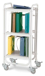 Winco 7100 Rolling Ring Binder Cart 10-2