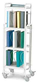Winco 7150 Rolling Ring Binder Cart 15-2