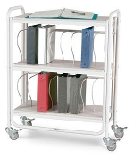 Winco 7160 Rolling Ring Binder Cart 16-3