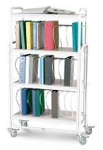 Winco 7300 Rolling Ring Binder Cart 30 - 2