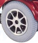 Jazzy 1122 Flat Free Drive Wheel Assembly (WHLASMB1446)