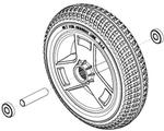 Flat Free Front Wheel (12158)