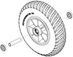 Flat-Free Front Wheel (WHLASMB1703, WHLASMB1844)
