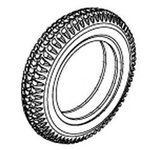 Jazzy 1120 Flat-Free Tire (TIRSOLI1008)