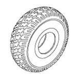 Jazzy 1143 Flat-Free Tire (TIRSOLI1031)