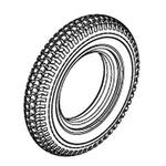 Jazzy 1100 Flat-Free Tire (TIRSOLI1081)