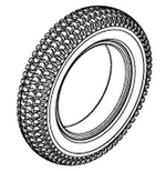 Jazzy 1122 Pneumatic Tire (TIRPNEU1004)