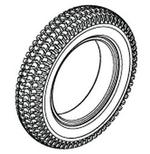 Jazzy 1104 Pneumatic Tire (TIRPNEU1004)