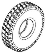 Jazzy Pneumatic Tire (TIRPNEU1015)