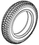 Jazzy 1650 Pneumatic Tire (TIRPNEU1017)