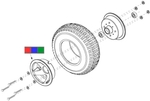 Victory XL [SC270] Flat Free Front Wheel (WHLASMB1324, WHLASMB1326, WHLASMB1356)