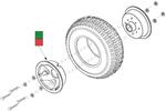 Victory XL [SC270] Flat Free Rear Wheel (WHLASMB1330, WHLASMB1357)