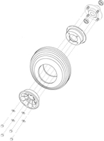 Sundancer [SC202] Flat Free Front Wheel (WHLASMB1350)