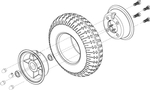 Sundancer [SC2000] Flat Free Front Wheel (WHLASMB1433)