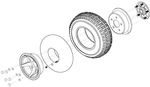 Pneumatic Rear Wheel (WHLASMB1549)
