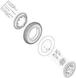 Pneumatic Drive Wheel (WHLASMB1558)