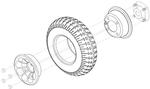 Flat Free Rear Wheel (WHLASMB1557)