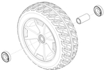 Flat Free Front Wheel for 3-Wheel Scooters (WHLASMB1781)