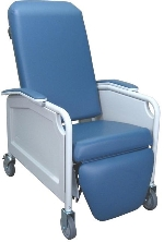Winco 5861 LifeCare 3-Position Recliner Geriatric Chair