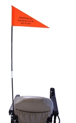 Folding Safety Flag with mounting hardware (FSL1100)