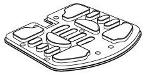 Rubber Floormat Jet Power Chair Style DWR1052E005