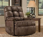 Full Leather Med Lift Reliance 5500 Wall-Hugger 2-Position Reclining Lift Chair