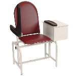 Winco 2572 Blood Drawing Chair Padded Vinyl with Drawer